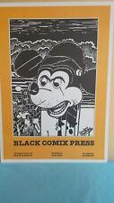 ANDREA PAZIENZA POSTER FUMETTI ORIGINALE ANNO 1984 BLACK COMIX PRESS ROMA