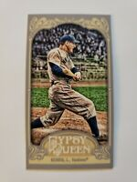 2012 Topps Gypsy Queen Lou Gehrig Mini Gypsy Queen Back #236 - NY Yankees HOF