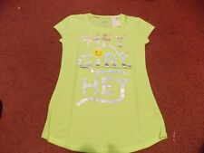 justice size 18---- lime color---- hey girl graphic top nwt