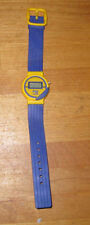 Vintage JAZZERCISE logo watch from 1980s non-working blue