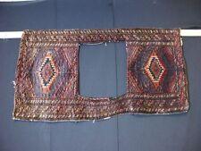22267 Handgewebter ORIENTAL Teppich ORIGINAL SATTEL TASCHE ANTIK KILIM 125 x 63