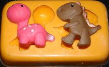 Stampo in silicone baby dinosauro Compleanno Cupcake Torta Glassa fimo resina il fimo