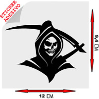 Sticker Adesivo Decal Grim Reaper Morte Horror skull goth rock Auto Moto Tuning