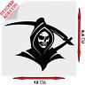 Sticker Adesivo Decal Grim Reaper Morte Horror skull goth rock Auto Moto Tuning