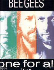 BEE GEES TOUR PROGRAM ONE FOR ALL 89 FROM JAPAN BARRY ROBIN MAURICE GIBB