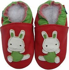 shoeszoo rabbit red 2-3y S soft sole leather toddler shoes