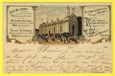 """cpa Rare PARIS EXPOSITION UNIVERSELLE de 1900 """"PALAIS MAC CORMICK"""" Chicago USA"""