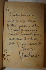 Romanzo letteratura, Gian Dàuli: La Rua 1933 Corbaccio dedica autografa autore
