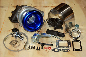 Internal Turbocharger Street Turbo Kit T3 Hybrid Wastegate BOV Oil Line Shield