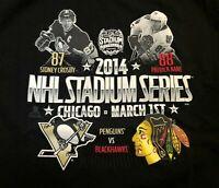 Chicago Blackhawks Pittsburgh Penguins 2014 Stadium Series T-Shirt Men's Large