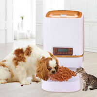 Automatic Pet feeder Food dispenser 6L Cat Dog Timer Programmable Voice Recorder