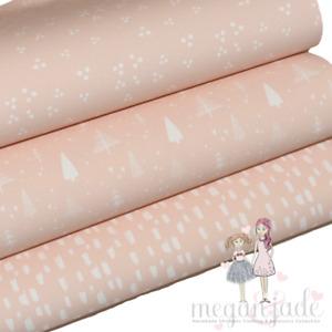 Pastel Pattern Printed Bow Fabric Canvas Hair Bows - Pink Bundle 2