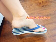 Womens Used Well Worn Abercrombie & Fitch Shoes Sandals Flip Flops Size 7
