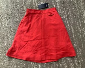 Fred Perry Skirt Hibiscus Pink Size UK 8