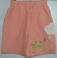 New 100% Cotton Girls Boys Pink Shorts Size Age Small 4-6 Years