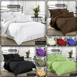 1000 TC US Size Scala Brand 3pc Duvet Set & 4pc Sheet Set in King/Queen/Full siz