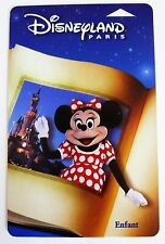 CARTE DE COLLECTION DISNEYLAND PARIS / LIVRE MINNIE / ENFANT