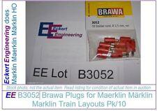 EE B3052 NEW Brawa Red Rot Plugs for Maerklin Märklin Marklin Pk/10 B 3052