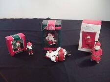VINTAGE LOT OF 3 Hallmark CHRISTMAS Ornaments 1992 COCA-COLA SANTA CAMERA CLAUS+