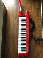 Roland AX-1 AX1 Shoulder Keytar Music keyboard MIDI Controller Red Used Japan