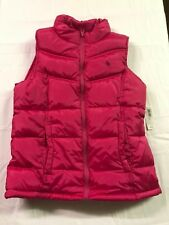 NWT Old Navy XL 14 Extra Large Girls Pink Puffer Vest