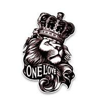Löwe Aufkleber One Love Auto Sticker Motorrad Krone  König Tuning Styling Dekor