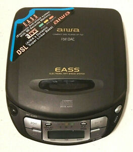 AIWA XP-700 Portable CD Player Vintage 1995 TESTED & WORKS, BATTERIES INCLUDED!!