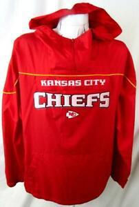 Kansas City Chiefs Men M L or XL Hooded Pullover Windbreaker Jacket AKAC 247