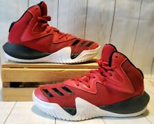 Adidas ART-BY3525 Basketball Shoes Scarlet/ Black/White Men Size 5.5 M