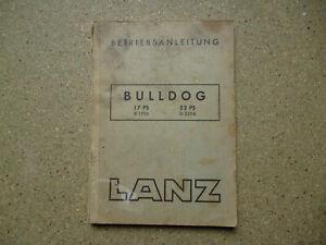 LANZ BULLDOG 17 PS D 1706  22 PS D 2206 Original Betriebsanleitung 1952