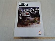 BROCHURE DEPLIANT ORIGINALE MITSUBISHI L200 4X4 4WD