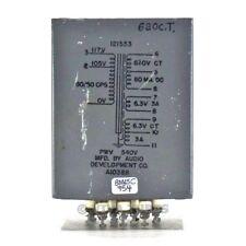 Vintage ADC Audio Development 121553 Power Transformer 620 Volts 80mA, 6.3V