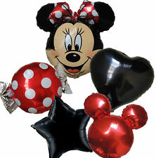 Minnie Mouse Red Bow Polka Dot Balloon Pack 1st 2nd 3rd 4th Birthday Supplies