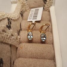 Espirito Santo Aquamarine leverback earrings in 14k Gold Over Sterling Silver