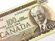 1975 Canada 100 Dollar Circulated AJX Crow Bouey Replacement Banknote R207