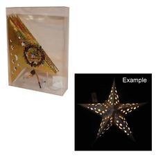 Christmas Decoration Battery LED Light Up Star Lantern - Gold