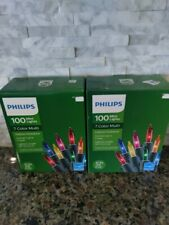2 Boxes New Philips 100 Multi Mini Christmas Lights Indoor/Outdoor Color