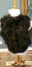 Turkey Feather Fur Vest Bolero SMALL