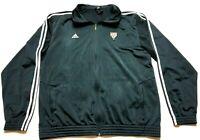 Adidas Mens Black Long Sleeve Zip Up Track Jacket Size 2XL