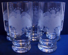Etched Double Eagle - Bicentennial - Clear 12 oz Glasses/Tumblers - Set of 5