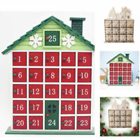 Advent Calendar Durable Christmas With Small Drawer Wooden Storage Box Deer Gift