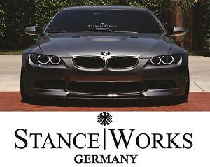 GERMANY STANCE WORKS sticker JDM Honda Mercedes BMW  Windscreen sticker