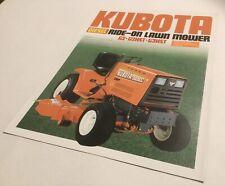 Kubota G2 G2HST G3HST Ride On Lawn Mowers Original 1984  Sales Brochure