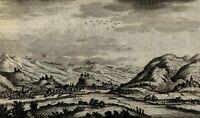 Switzerland Germany Italy Bellinzona c. 1720 Van der Aa engraved view print