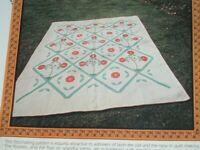Vtg 80s Pomegranate Applique Quilt Pattern Love Apples +Plastic Templates #LK6
