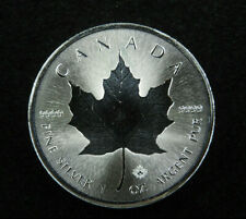 2018 1 oz Silver Maple Leaf Coin $5 Incuse (Concave) Canada 99.99% Fine Ag