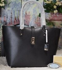 NWT MICHAEL KORS KARSON LARGE Carryall Tote Bag In BLACK Pebbled Leather $398