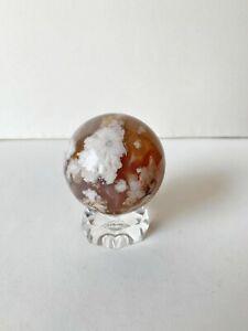 """2.5"""" Flower Agate Crystal Sphere"""