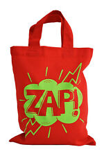 SINGLE. PARTY/GIFT BAG (Small): 'ZAP' 100% cotton. Red