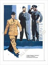 PLANCHE UNIFORMS PRINT WWII Kriegsmarine marine guerre Submarine Crew U-Boot